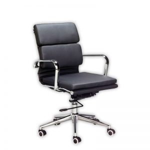 Classic Eames Cushion Chair Midback Black