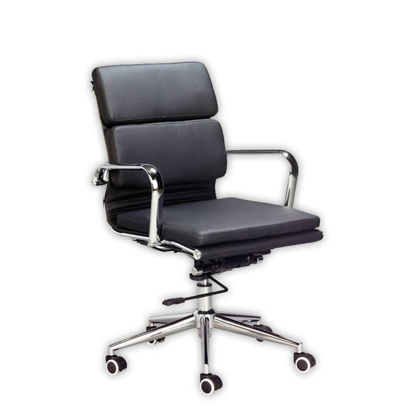 Classic Eames Mid Back – Cushion – Black