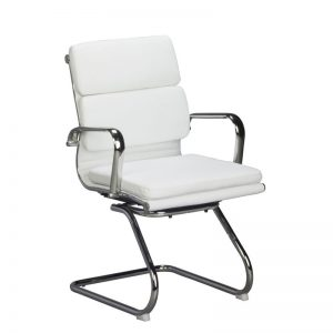 Classic Eames Cushion Chair Sleighbase White