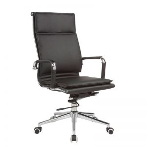 Classic Eames High Back - Flat Cushion - Black