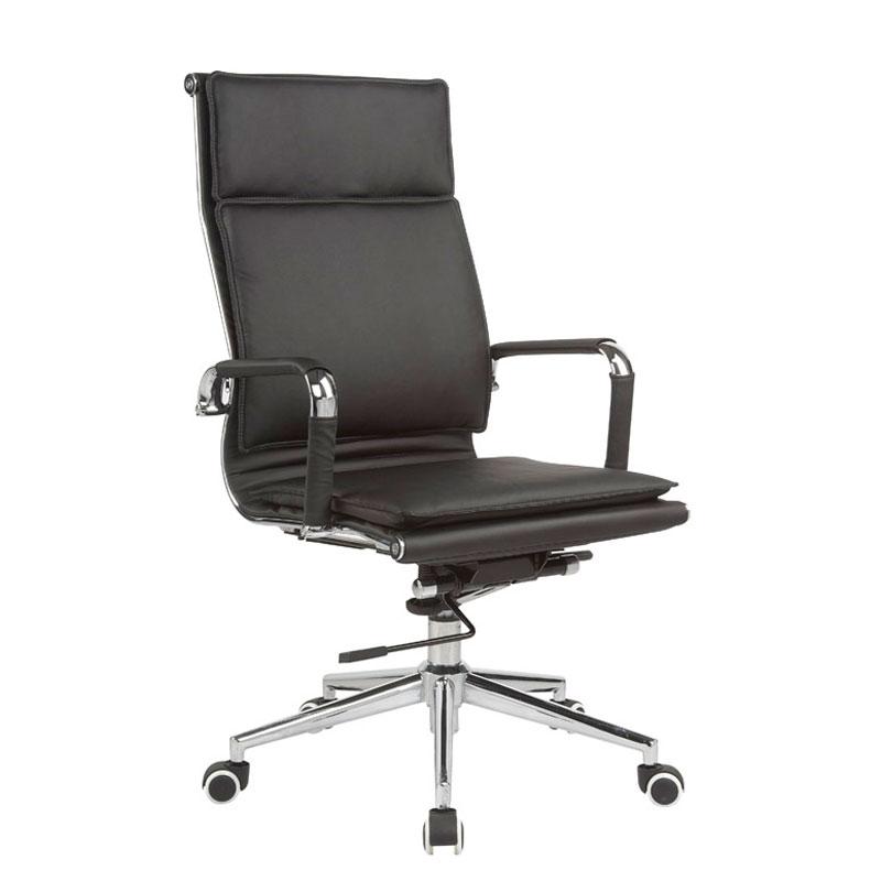 Classic Eames High Back –  Flat Cushion – Black