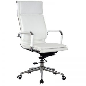 Classic Eames High Back - Flat Cushion - White