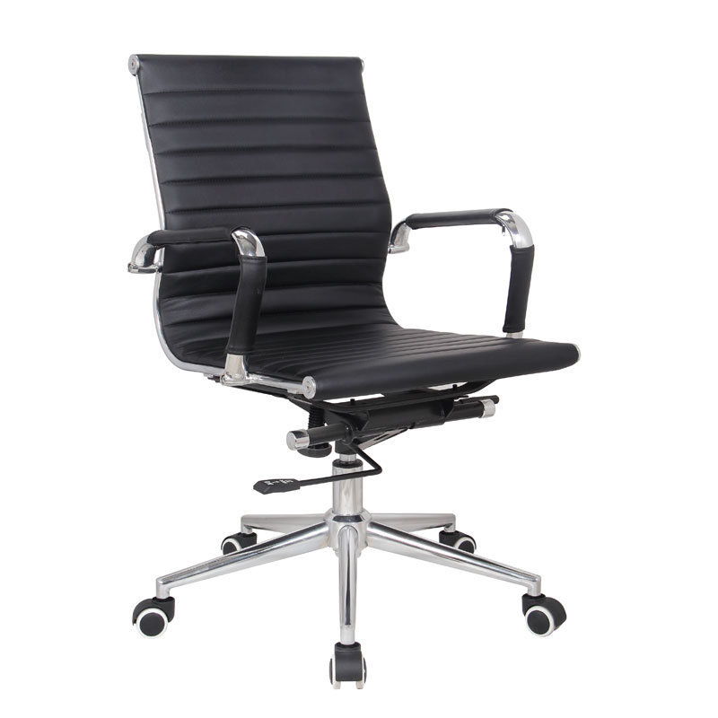 Classic Eames Mid Back Chair – Black