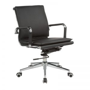 Classic Eames Mid Back - Flat Cushion - Black
