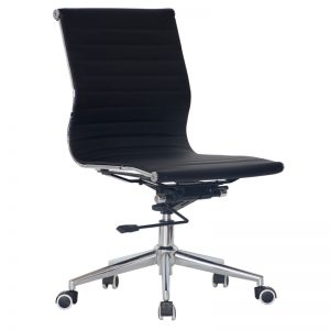 Classic Eames Mid Back - No Arms - Black