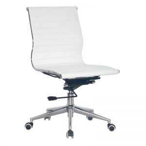 Classic Eames Mid Back - No Arms - White