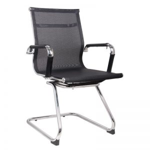 Classic Eames Visitors Chair - Netting - Black