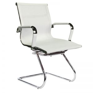 Classic Eames Visitors Chair - Netting - White