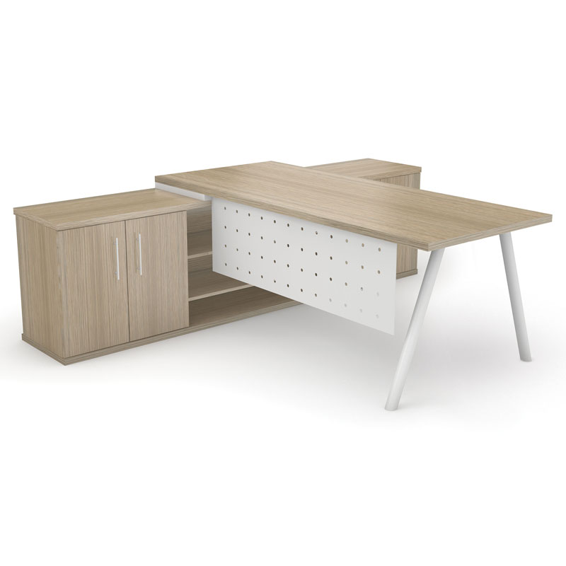 Dakota Desk with Round Tube Legs 1