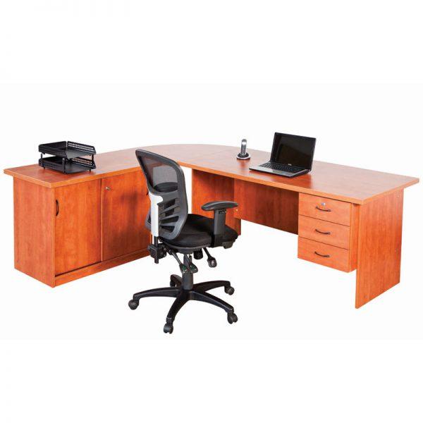 Data Track L shaped Desk