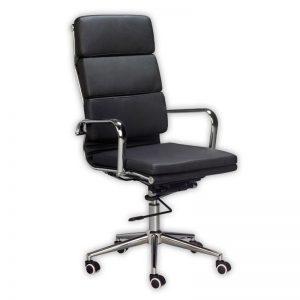 Eames Classic Cushion High Back Chair - Black