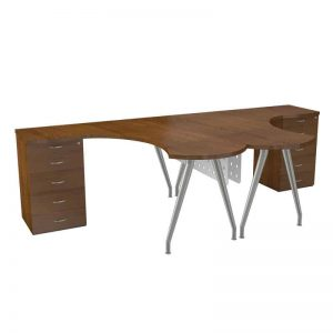 Luna Cluster Desk Double