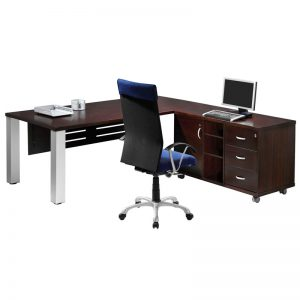 Slimline Melamine L shaped Desk