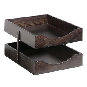 Solid Wood Letter Trays – 2 Tier