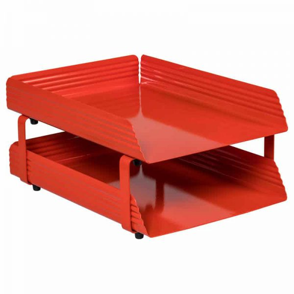 Fluted Steel Letter Tray 2 Tier
