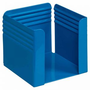 Fluted Paper Cube Holder - Blue