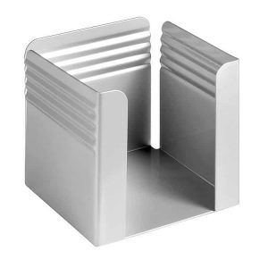 Fluted Paper Cube Holder - Silver