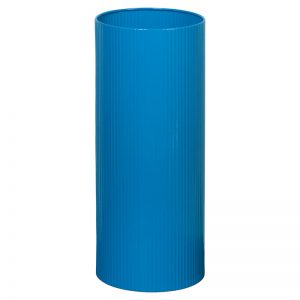 Fluted Standing Bin Polished Lid - Blue