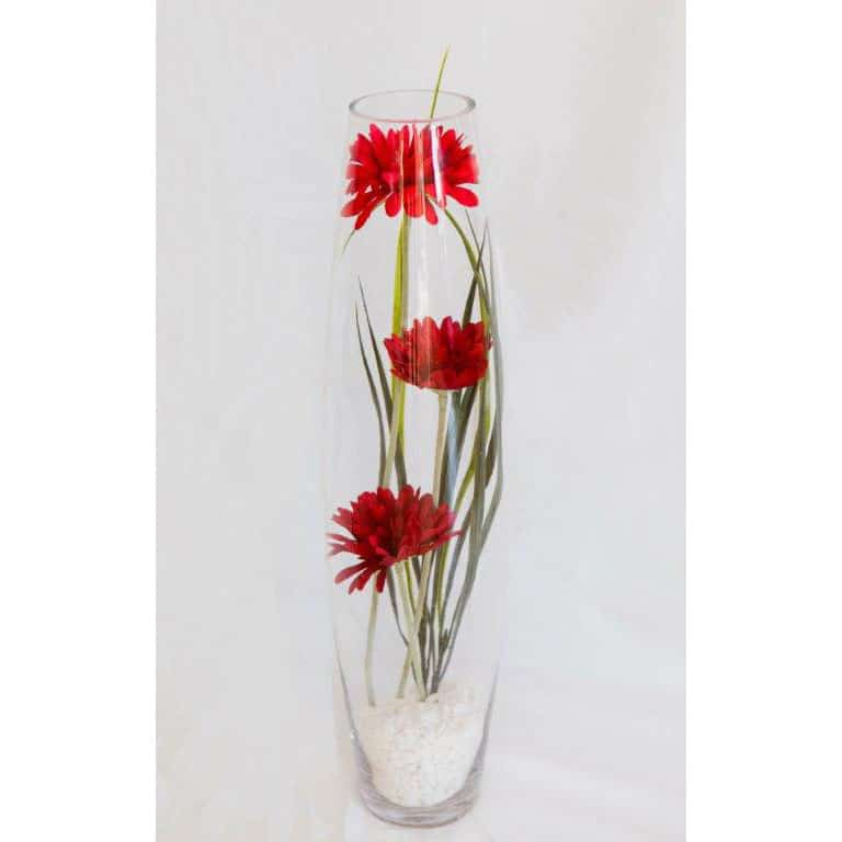 Gerbera in Glass Vase