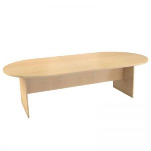 Oval Table with Panel Legs