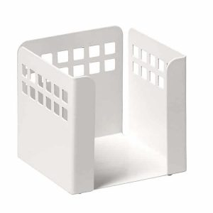 Square Punch Paper Cube - White