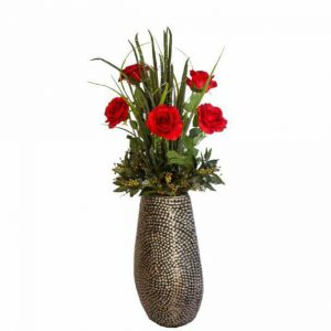 Paris Roses in Knobbly Vase
