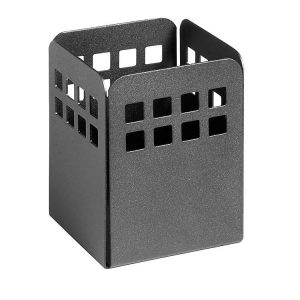 Square Punch Pencil Cup - Black