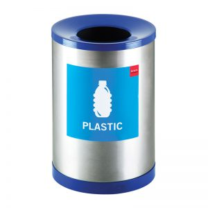Stainless Steel Recycle Bin Various Stickers