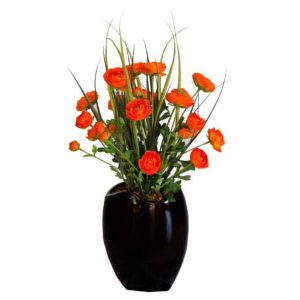 Renunculus Assortment in Wide Mouth Vase