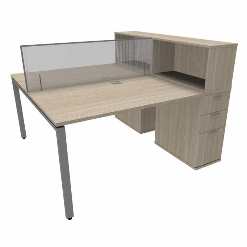 Revolution Slimline Dual Desk Office Group