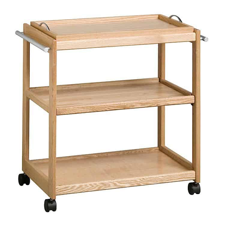 Tea Trolley with removable butler's tray – Maple