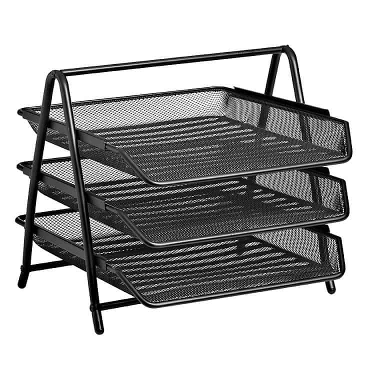 Three Tier Letter Tray – Wire Mesh 1