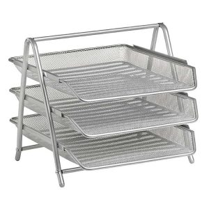 Three Tier Letter Tray - Wire Mesh
