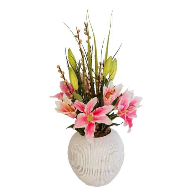 Tiger Lily in Scratch Vase 1