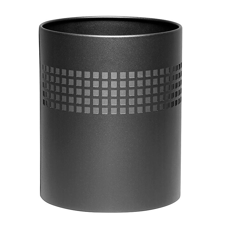 Square Punch Waste Paper Bin – Black