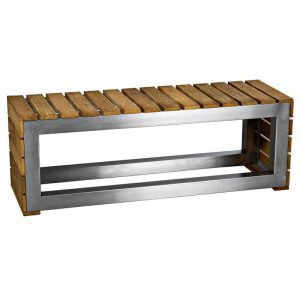 Wood and Stainless steel bench