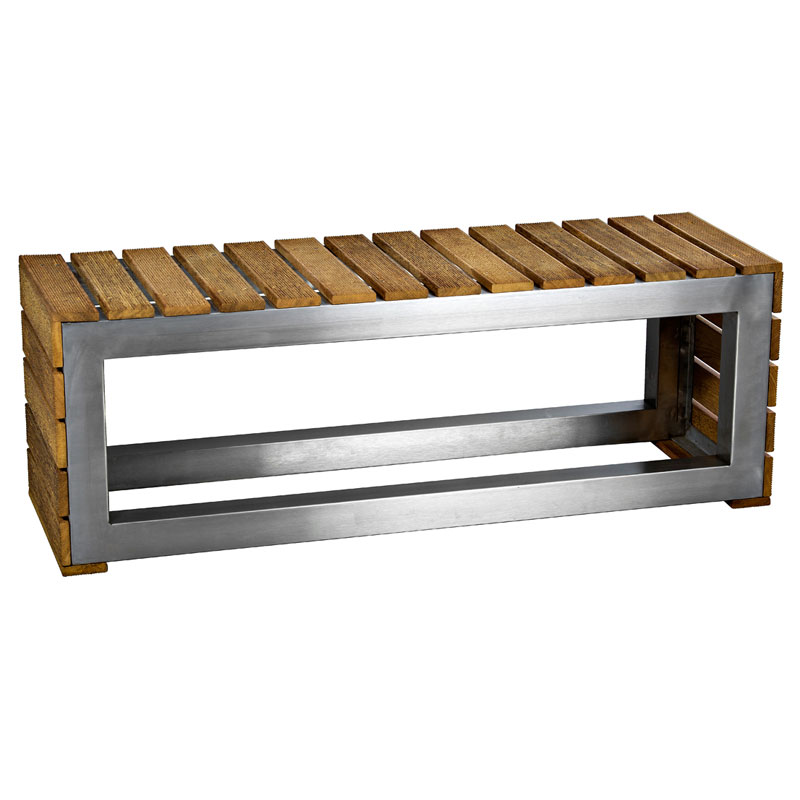 Wood and Stainless steel bench 1