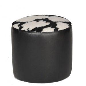 Zebra Round Ottoman