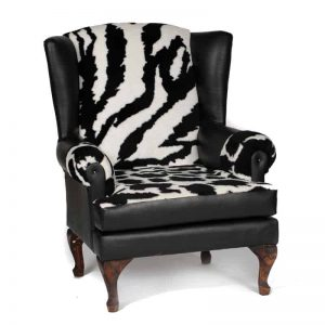 Zebra Wing Back Chair