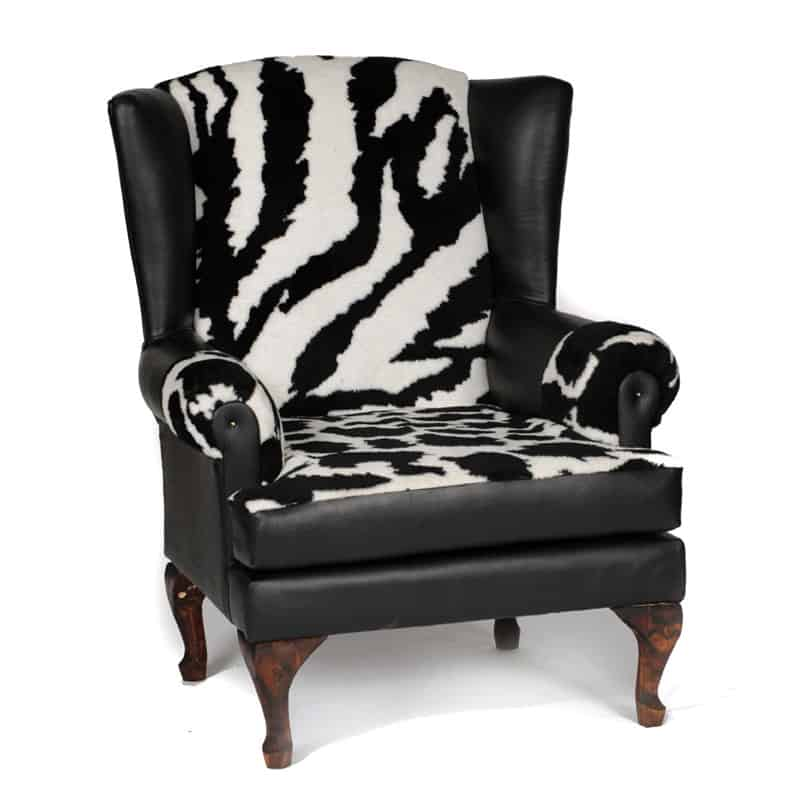 Zebra Wing Back Chair 1