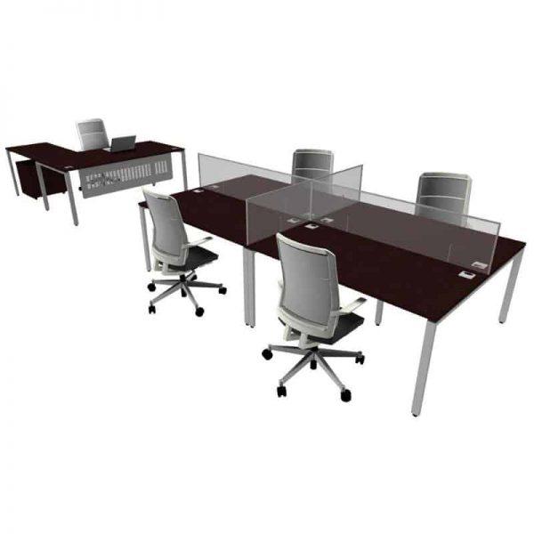 Poly Carbon Desk Screens