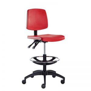 Industrial Skin Foam Draughtsman's Chair