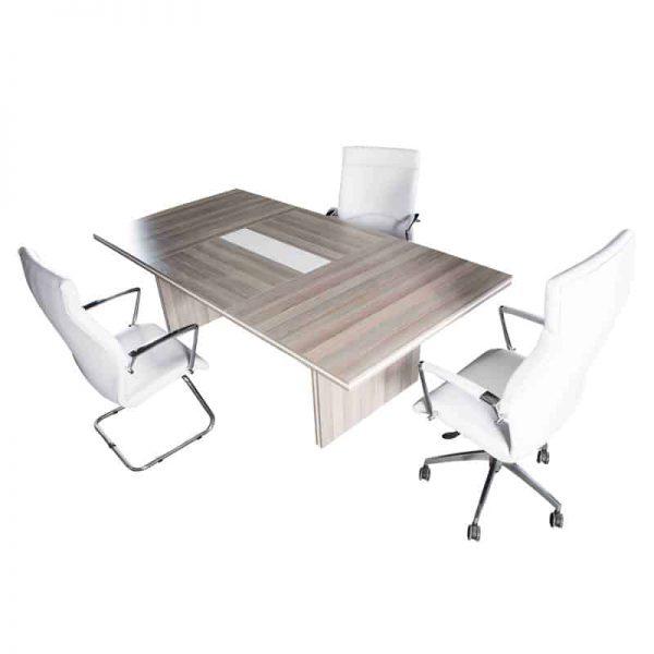 White Line Boardroom Table