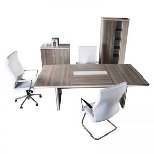 White Line Boardroom Table