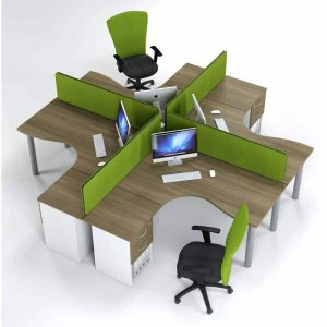 Inten Cluster Desking - Green