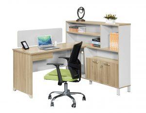 Sun L-Desk with Top Storage
