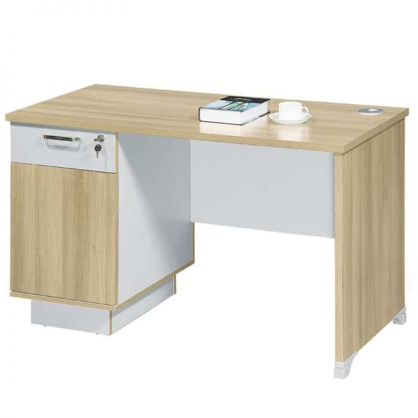 Sun Single Desk with Drawers