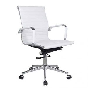 Classic Eames Mid Back Chair - White