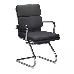 Classic Eames Visitors Chair - Cushion - Black