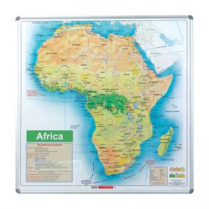 EDU BD Map Africa Magnetic White